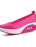Hot Sales Women's Loafers & Slip-Ons Spring Summer Comfort PU Canvas Outdoor Office & Career Casual Wedge Heel Fuchsia Gray Black