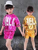 Kinderen-Jazz-Outfits(Fuchsia / Wit / Geel,Polyester,Pailletten)