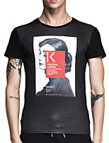 Summer Men's Round Neck Short Sleeve Fashion Personality Printing T-Shirt Slim Casual Tops