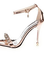 Women's Shoes PU Stiletto Heel Heels Sandals Party & Evening / Dress Pink / Silver / Gold