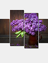 4pieces Modern Home Decor Wall Art Picture For Living Room Bedroom Decor purple lilac flower Canvas Print painting