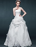 A-line Wedding Dress-Floor-length Strapless Organza