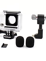 3.5mm Plug Mini Stereo Microphone with Open Side Case for Gopro 3/3+/4
