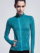 Women Sports Tshirt Zipper Spring Long Sleeve Fitness Coat Running Yoga Jacket More Colors