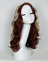 Women's Fashionable Mixed-color Long Length Wave Synthetic Wigs