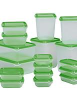 17pcs Set Sweden PRUTA Food Storage Box Sealed Crisper Plastic Refrigerator Preservation Box Container Kitchen Supplies