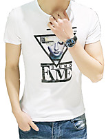 2016 summer new cotton Crewneck T-shirt male Japanese Korean t T-shirt in summer clothes's blood