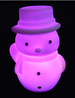 Creative Color-Changing Christmas Snowman LED Nightlight Necessary Christmas Gift Colorful