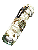 SK68 Mini 2000 Lumens Camouflage LED Flashlight Zoomable Lights Tactical AA 14500 battery Led Torch Lamp