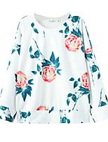 Hoodies Aux femmes Décontracté / Quotidien Simple Imprimé Blanc Polyester