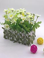 16 cm High Quality Artificial Flower Stockade Stockade Artificial Flower Emboitement (White)