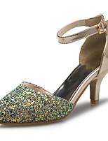 Women's Shoes Leatherette Stiletto Heel Heels Heels Outdoor / Office & Career / Dress Green / Gray / Gold