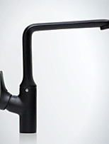 Deck Mounted Single Handle with Black Painting Kitchen Faucet