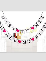 Popular Miss To Mrs With All My Bitches Bridal Shower Bachelorette Party Sign Hen Party Garlands with Ribbon