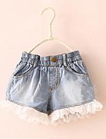 BK 3-6 Y Girls Lace Denim Short Pants