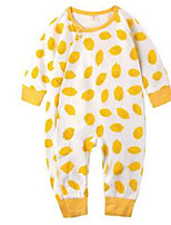 Girl's Yellow Overall & Jumpsuit Cotton Spring