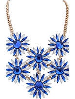 Fashion Punk Style Jewelry Statement Sunflower Long Tassel Pendant Alloy Mix Colors Necklace For Lady Women