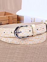 Women Leather Candy Color Wide Belt,Vintage / Cute / Party / Casual Alloy