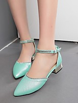 Women's Shoes Leatherette Chunky Heel Heels Heels Outdoor / Office & Career / Party & Evening Blue / Pink / Beige