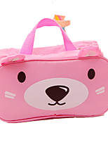 2016 New Girls Cute Zipper Cosmetic Bags Small Makeup Bag Cartoon Bear Wash Bag Portable Travel Toiletry Bag Package