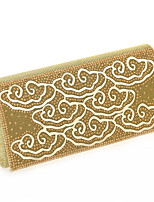 Women Glitter Minaudiere Clutch / Evening Bag / Wristlet-Gold / Silver / Black