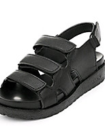 Women's Shoes PU Wedge Heel Round Toe Sandals Outdoor / Dress / Casual Black / White