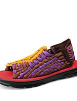 Zapatos de Hombre-Sandalias-Exterior / Oficina y Trabajo / Casual-Microfibra-Negro / Morado / Gris