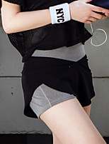 Mujer Carrera Shorts Yoga / Fitness / Running Secado rápido / Compresión / Materiales Ligeros / Reductor del Sudor Negro ForroRopa
