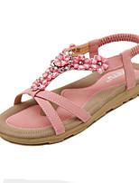 Women's Shoes Bohemian Style Flower Street chic Sweet Flat Heel Comfort / Open Toe Sandals Dress / Casual