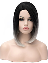 New Avaiable Synthetic Wig Ombre Color 1b/Gray Straight BOBO Heat Resistant Hair Synthetic Wigs