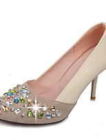 Women's Shoes Stiletto Heel Pointed Toe Heels Wedding / Party & Evening / Dress Black / Pink / Beige