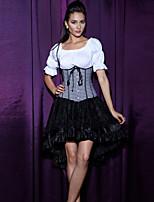 Women's Plaid Print Bustier Cincher Waist Corset,Lingerie Shaperwear