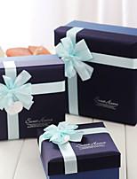 Boîtes Cadeaux(Bleu,Papier durci)Thème classique- pourCommémoration / Fête prénuptiale / Fête de naissance / Bonbon seize / Anniversaire