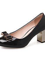 Women's Shoes Patent Leather Chunky Heel Heels Comfort Round Toe Heels Wedding / Dress / Casual More Colors Available