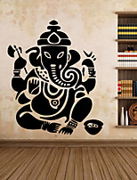 9487 Ganesh Elephant GOD OM Yoga Buddha Mandala Ganapati Vinyl Carving Wall Decal Sticker for Home