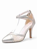 Chaussures Femme-Extérieure / Soirée & Evénement-Noir / Or-Talon Aiguille-Talons / Bout Pointu / Bride de Cheville-Sandales / Talons-