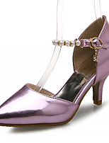 Women's Shoes Leatherette Stiletto Heel Heels Heels Outdoor / Office & Career / Dress Silver / Gold