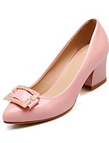 Women's Shoes Leatherette Chunky Heel Heels Heels Office & Career / Dress / Casual Black / Blue / Pink / Beige