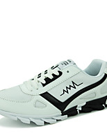 Men's Shoes Casual/Travel/Athletic Fashion Tulle Leather Running Sneakers Shoes Black/White/Bule 39-44