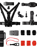 Fantaseal 15-in-1 GoPro Accessories Kit Mount Head Strap Backpack Rec-Mount Remote Strap for GoPro Hero 4 3+ 3 SJCAM