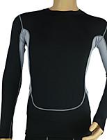 Hombres Carrera Tops Equitación / Fitness / Carreras / Deportes recreativos / Running Secado rápido Negro Otros Ropa deportiva
