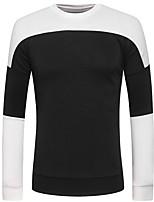 Sets Activewear Uomo Casual Monocolore Manica lunga Poliestere
