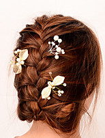 Women Alloy Handmade Flower Bud Pattern Imitation Pearl Hair Stick Fashion Hair Accessories