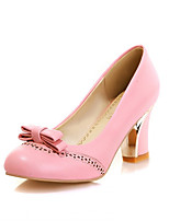 Women's Shoes Chunky Heel Pumps/Office & Career/Casual Black/Pink/White/Beige