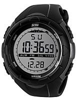 Montre de sport Hommes / Unisexe Etanche / Noctilumineux / Compteur de vitesse / Podomètre / Chronomètre Quartz Japonais Numérique