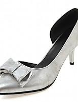 Women's Shoes Leatherette Stiletto Heel Heels Heels Outdoor / Office & Career / Dress Black / Silver