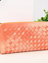 Bolso de Mano / Cartera / Portatarjetas / Titular de la tarjeta de visita-Triple Pliegue-PU-Rosa / Morado / Verde / Naranja / Gris-Mujer