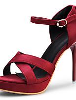 Women's Shoes Stiletto Heels/Platform Sandals Fashion Shoes Party & Evening/Dress Black/Red/Burgundy