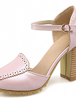 Women's Shoes Leatherette Chunky Heel Heels Heels Outdoor / Office & Career / Dress Blue / Pink / Beige