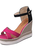 Women's Shoes PU Platform Wedges Sandals Outdoor / Office & Career / Athletic / Casual Black / Green / Gray / Coral